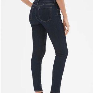 GAP Skinny Jeans, Size 8, Ankle Length, Dark Denim